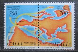 Poštovní známky Itálie 1990 Objevení Ameriky, 500. výroèí Mi# 2103-04