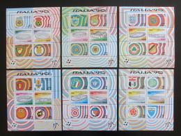 Poštovní známky Itálie 1990 MS ve fotbale Mi# Block 3-8 Kat 38€