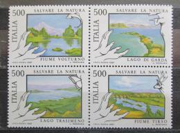 Poštovní známky Itálie 1987 Jezera a øeky Mi# 2005-08