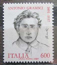 Poštovní známka Itálie 1987 Antonio Gramsci, politik Mi# 2009