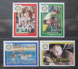Poštovní známky Norfolk 2005 Rotary Intl., 100. výroèí Mi# 899-902