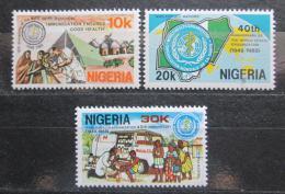 Poštovní známky Nigérie 1988 WHO, 40. výroèí Mi# 515-17