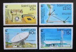 Poštovní známky Svatá Lucie 1988 Telegrafní spoleènost, 50. výroèí Mi# 921-24