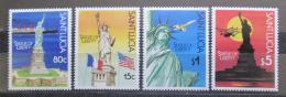 Poštovní známky Svatá Lucie 1987 Socha svobody, 100. výroèí Mi# 890-93