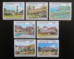 Poštovní známky Svatý Kryštof 1988 Hotely Mi# 226-32 Kat 11€
