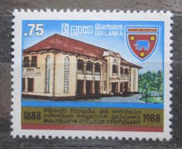 Poštovní známka Srí Lanka 1988 Univerzita Maliyadeva, 100. výroèí Mi# 829