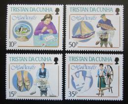 Poštovní známky Tristan da Cunha 1988 Rukodìlné umìní Mi# 443-46