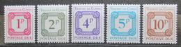 Poštovní známky Tristan da Cunha 1976 Doplatní Mi# 6-10