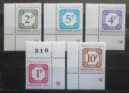Poštovní známky Tristan da Cunha 1976 Doplatní, rohy Mi# 6-10