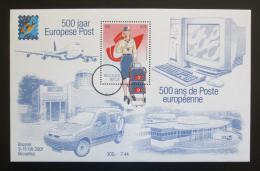 Poštovní známka Belgie 2001 Evropská pošta, 500. výroèí Mi# Block 81 Kat 15€