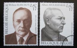 Poštovní známky Belgie 2001 Spisovatelé Mi# 3040-41