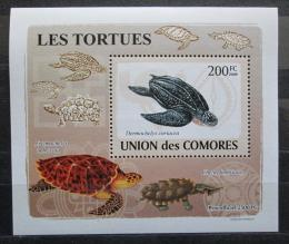 Poštovní známka Komory 2009 Želvy DELUXE Mi# 2177 Block