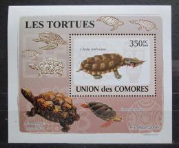 Poštovní známka Komory 2009 Želvy DELUXE Mi# 2179 Block