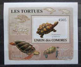 Poštovní známka Komory 2009 Želvy DELUXE Mi# 2180 Block