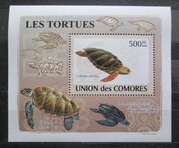Poštovní známka Komory 2009 Želvy DELUXE Mi# 2181 Block
