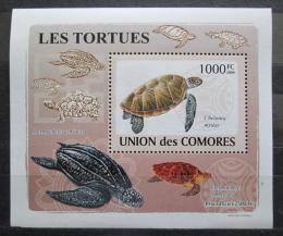 Poštovní známka Komory 2009 Želvy DELUXE Mi# 2182 Block