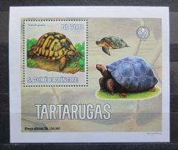 Poštovní známka Svatý Tomáš 2006 Želvy DELUXE Mi# 2764 Block