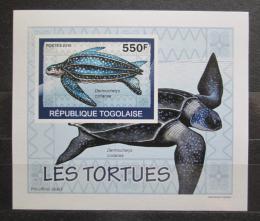 Poštovní známka Togo 2010 Želvy neperf. DELUXE Mi# 3424 B Block