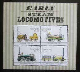 Poštovní známky Grenada 2014 Parní lokomotivy Mi# 6836-39 Kat 12€