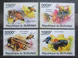 Poštovní známky Burundi 2011 Vèely Mi# 2002-05 Kat 9.50€