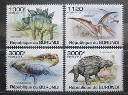 Poštovní známky Burundi 2011 Dinosauøi Mi# 2106-09 Kat 9.50€
