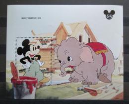 Poštovní známka Ghana 1994 Disney, Mickey a slon Mi# Block 243