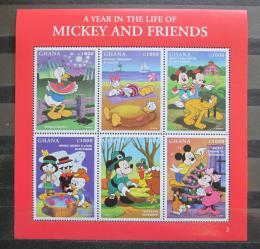 Poštovní známky Ghana 1998 Disney postavièky Mi# 2691-96