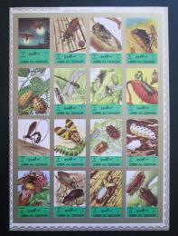 Poštovní známky Umm al-Kuvajn 1972 Hmyz neperf. Mi# 1338-53 B Kat 25€