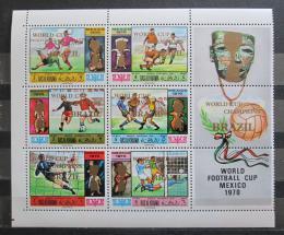 Poštovní známky Rás al-Chajma 1970 MS ve fotbale pøetisk Mi# 403-08 Kat 18€