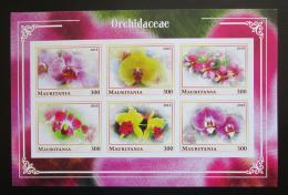 Poštovní známky Mauritánie 2018 Orchideje neperf. Mi# N/N