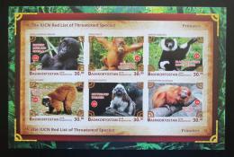 Poštovní známky Baškortostán, Rusko 2018 Primáti neperf. Mi# N/N