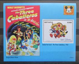 Poštovní známka Guyana 1993 Disney, Kaèer Donald Mi# Block 366 Kat 8.50€
