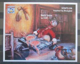Poštovní známka Sierra Leone 1995 Disney, umìní, Brueghel Mi# Block 258