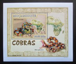 Poštovní známka Mosambik 2007 Kobry DELUXE Mi# 2998 Block