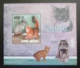 Poštovní známka Guinea-Bissau 2010 Koèky DELUXE Mi# 4579 Block