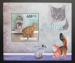 Poštovní známka Guinea-Bissau 2010 Koèky DELUXE Mi# 4581 Block