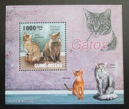 Poštovní známka Guinea-Bissau 2010 Koèky DELUXE Mi# 4583 Block