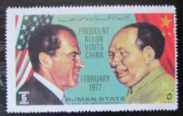 Poštovní známka Adžmán 1972 Prezidenti Nixon a Mao Ce-tung Mi# 2006 Kat 5€