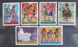 Poštovní známky Guinea 1966 Tradièní tanec Mi# 342-47