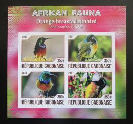 Poštovní známky Gabon 2017 Strdimil zlatoprsý neperf. Mi# N/N