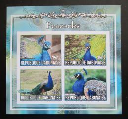 Poštovní známky Gabon 2017 Pávi neperf. Mi# N/N