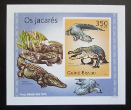 Poštovní známka Guinea-Bissau 2010 Aligátor severoamerický DELUXE Mi# 5002 Block
