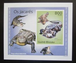 Poštovní známka Guinea-Bissau 2010 Aligátor severoamerický DELUXE Mi# 5006 Block