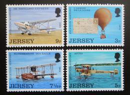 Poštovní známky Jersey, Velká Británie 1973 Historie letectví Mi# 81-84