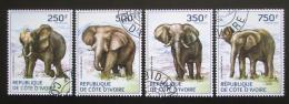 Poštovní známky Pobøeží Slonoviny 2014 Sloni Mi# 1609-12 Kat 8.50€