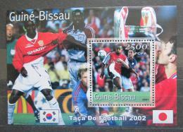 Poštovní známka Guinea-Bissau 2001 MS ve fotbale Mi# Block 315 Kat 12€
