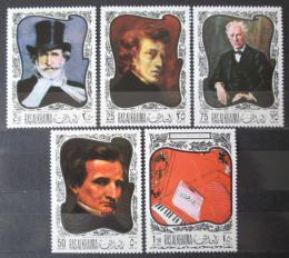 Poštovní známky Rás al-Chajma 1968 Umìní, skladatelé Mi# 276-80 Kat 6€