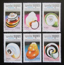 Poštovní známky Kambodža 1988 Šneci Mi# 963-68