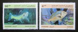Poštovní známky Mauritánie 1986 Ryby Mi# 899-900 Kat 5.70€
