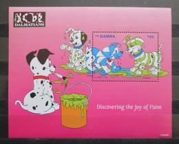 Poštovní známky Gambie 1997 Disney, 101 dalmatýnù Mi# Block 343 Kat 9.50€